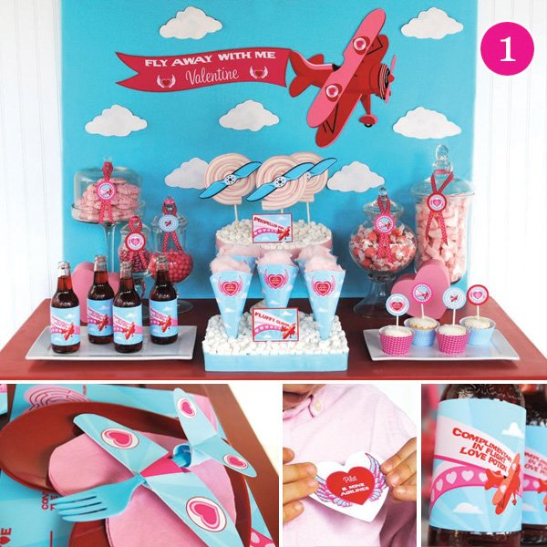 Come Fly Away With Me Valentine's Day Dessert Table