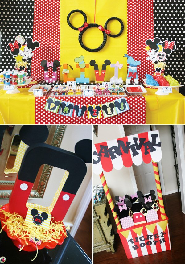 disney carnival birthday party with mickey friends hostess with