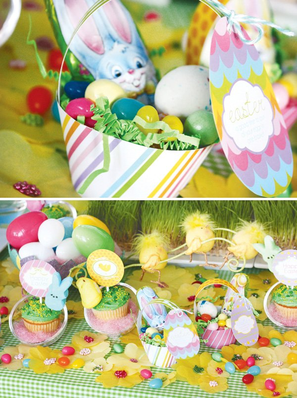 easter bunny collection dessert table sweets baskets