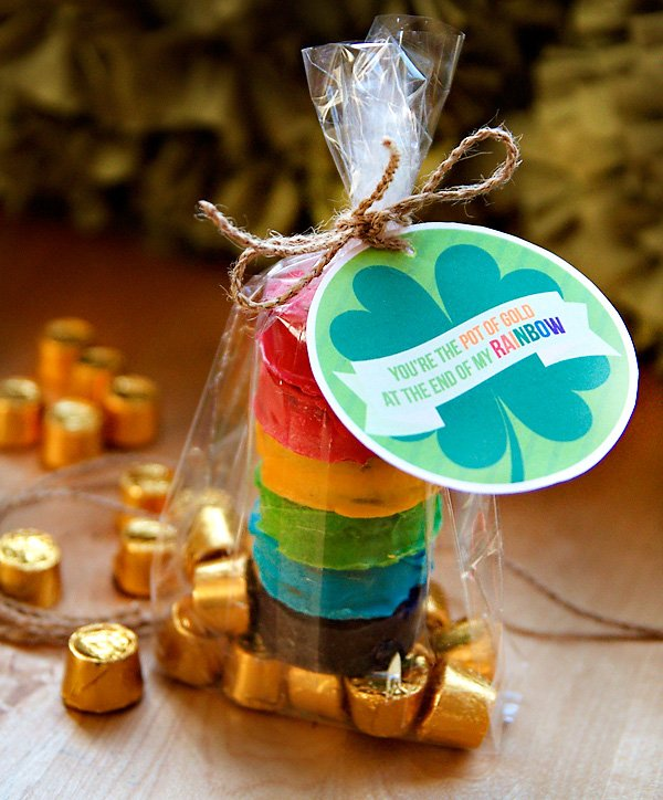 Rainbow Oreos Pot of Gold - St. Patrick's Day Party Favor
