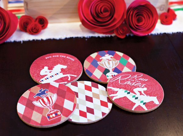 kentucky derby party drink coasters