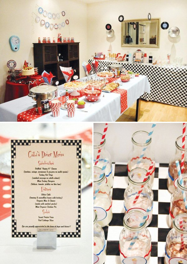 Adorable Retro Diner Birthday Party Hostess With The