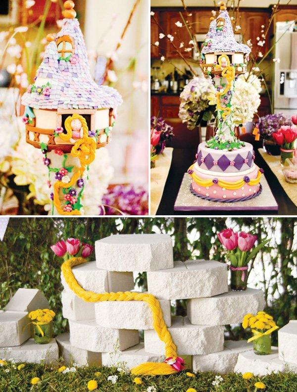 tangled princess birthday party cake