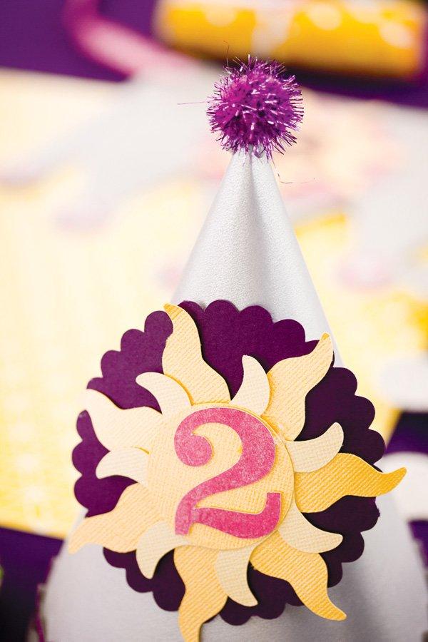 tangled birthday party hats