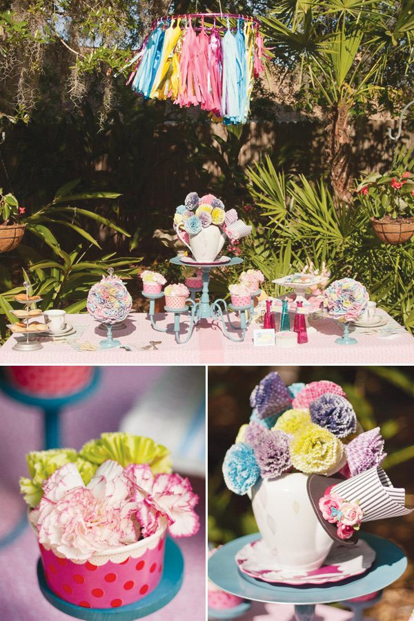 alice in wonderland party cupcake wrapper crafts
