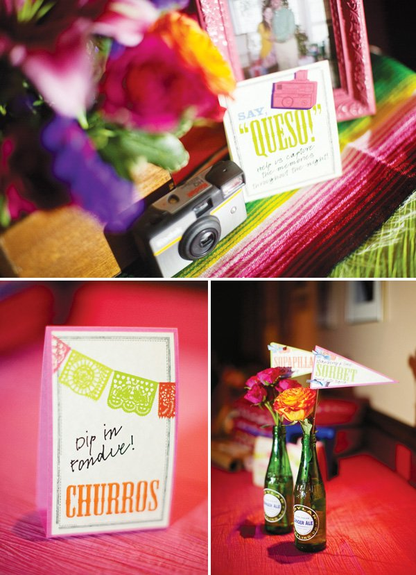 """mexican theme fiesta engagement party """"queso"""""""