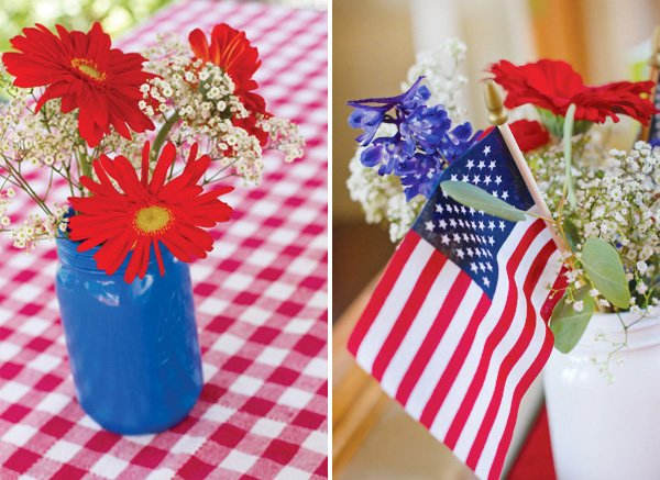 patriotic pinwheels party flower centerpieces