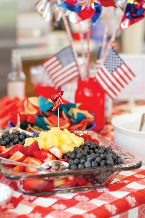 patriotic pinwheels party american flag fruit