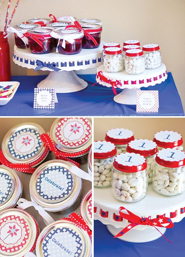 patriotic pinwheels party birthday favors
