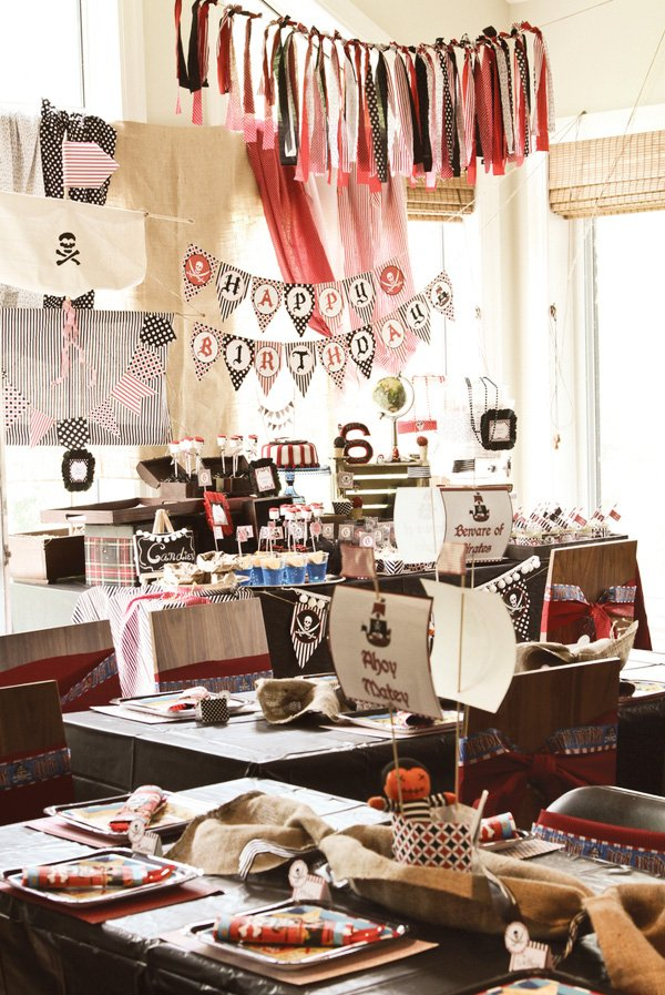 vintage pirate party