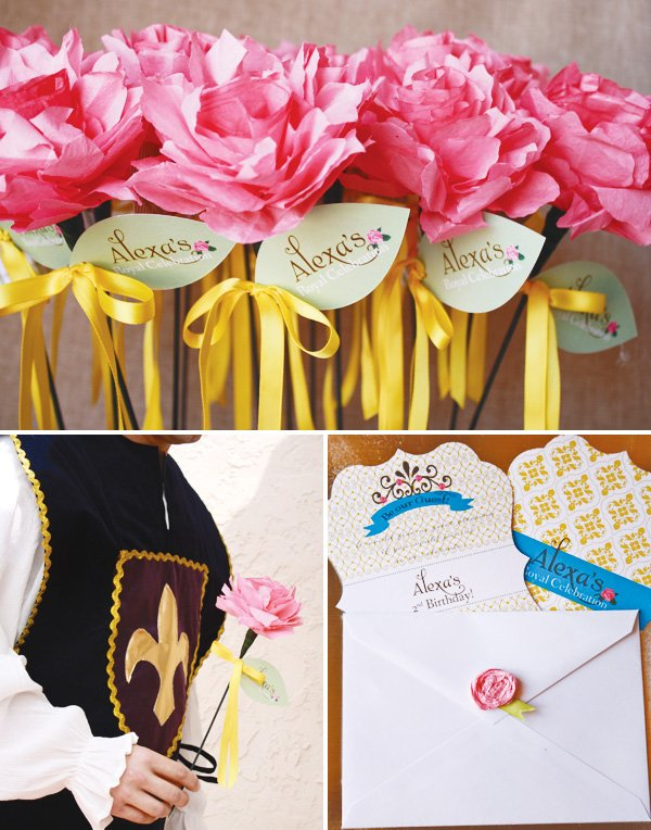 beauty and the beast theme with a rose invitation