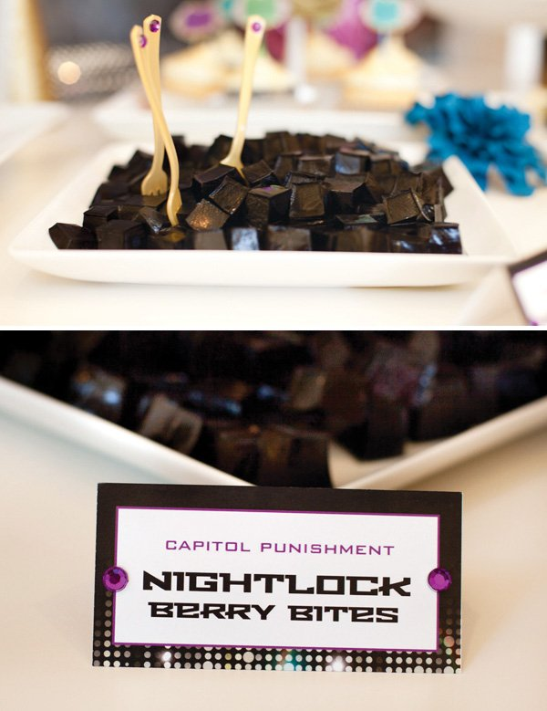 hunger games party ideas nightlock berry bites