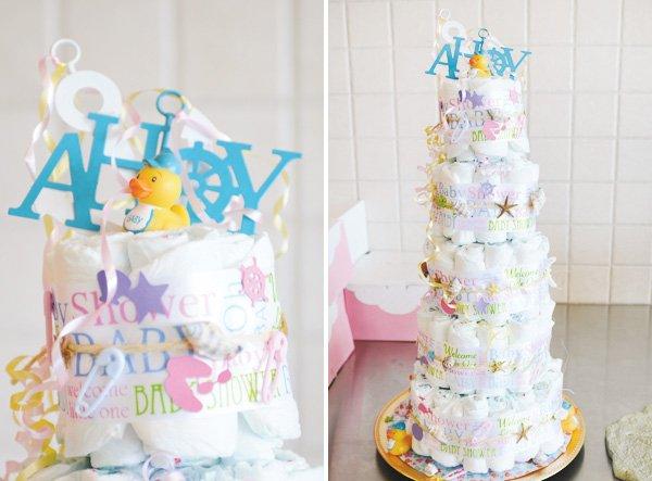 giant diaper cake