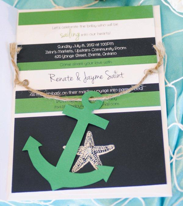 nautical baby shower invitation