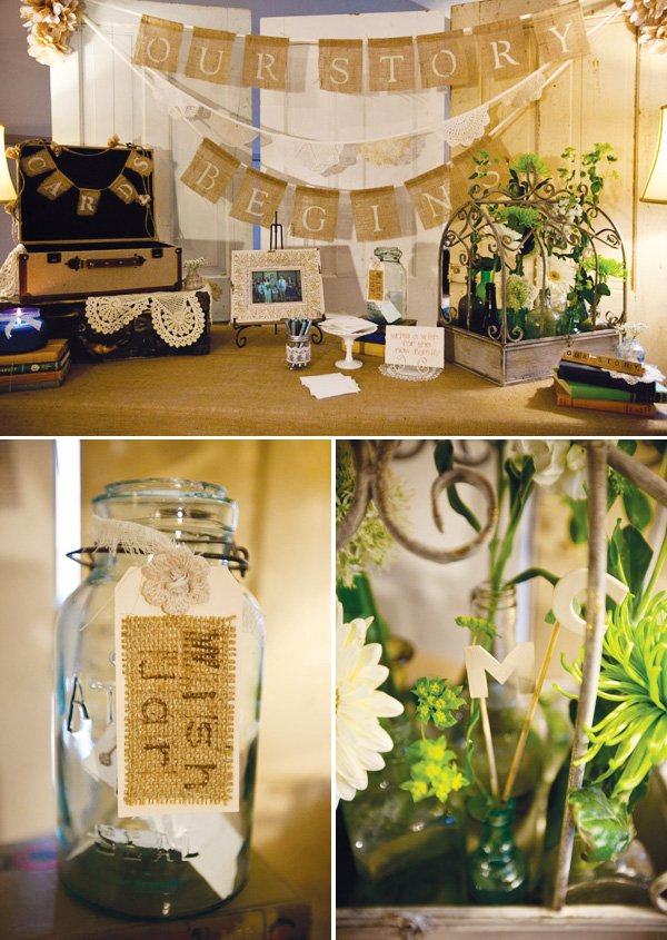 wedding wish jar and card table