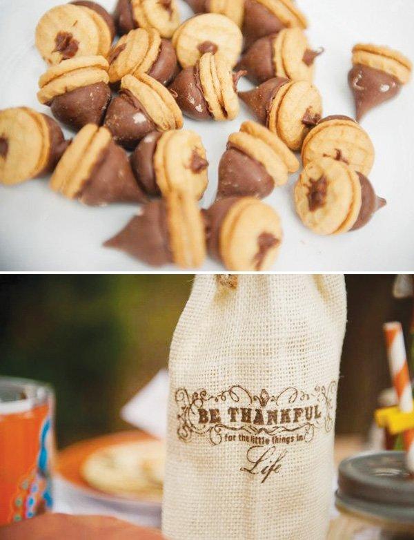 chocolate fall acorns