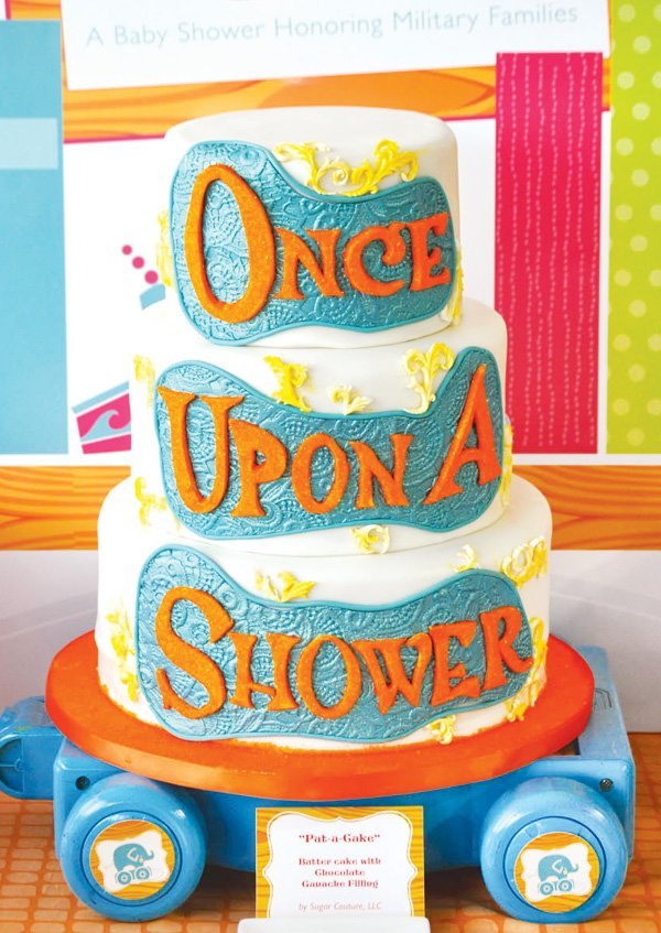 once upon a shower cake