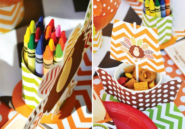 decorated paper turkey baskets