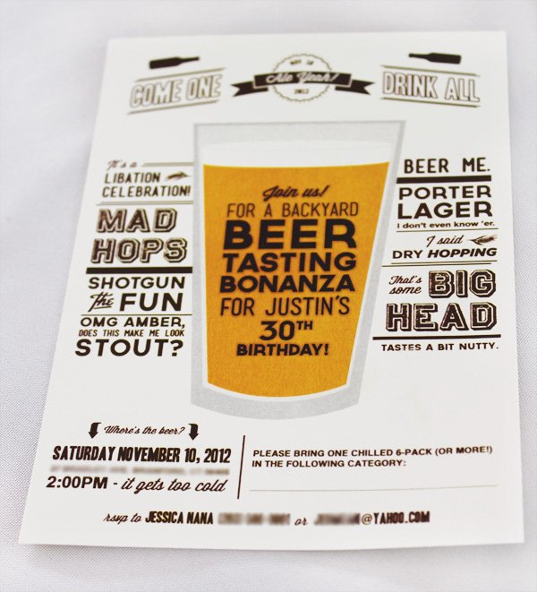 clever beer party invitation