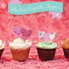 valentine cupcake toppers for a crafty diy tutorial