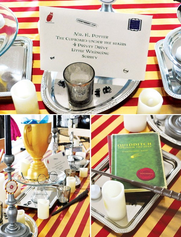 harry potter party table ideas