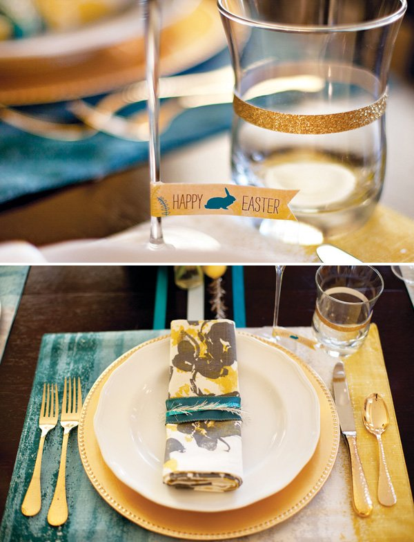 free Easter printables and Easter place setting ideas