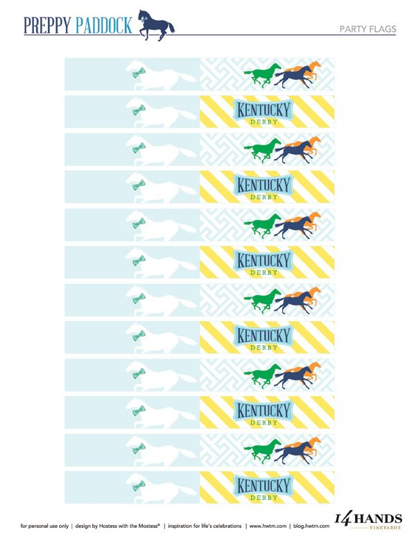 kentucky derby drink flags