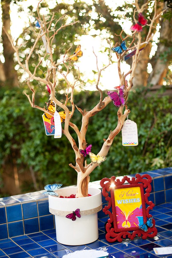 How To Make A Baby Shower Wishing Tree Free Printables Butterfly