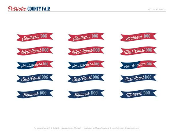 HWTM Original Party Printables for 4th of July
