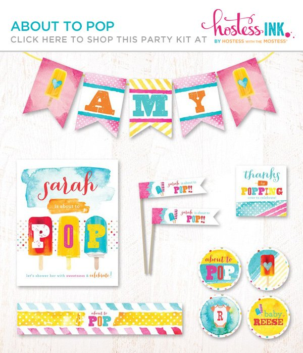 about to pop summer baby shower with a popsicle theme