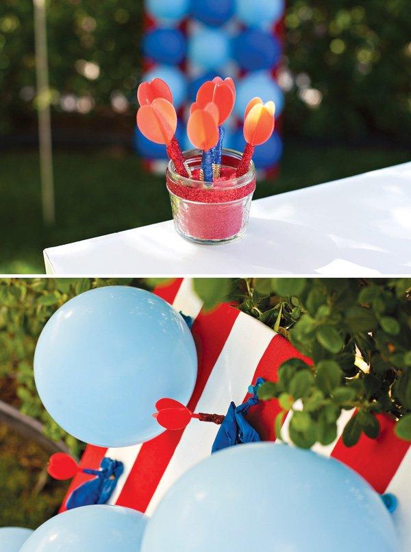 Glitter Wrapped Balloon Darts