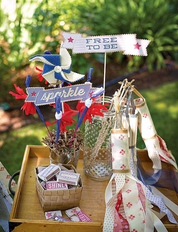 diy felt pinwheels, windsocks, and sparklers