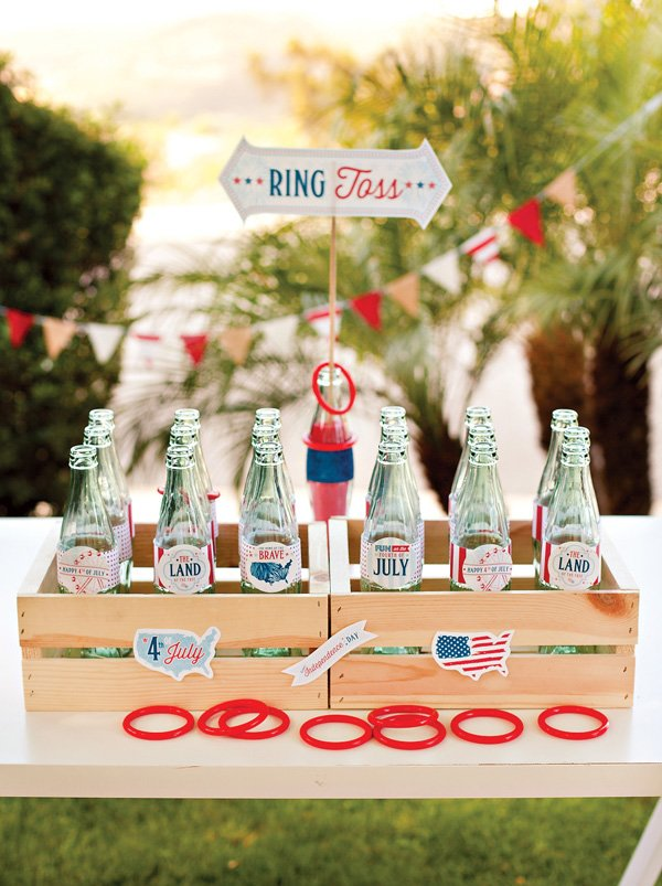 4th of July Ring Toss Activity