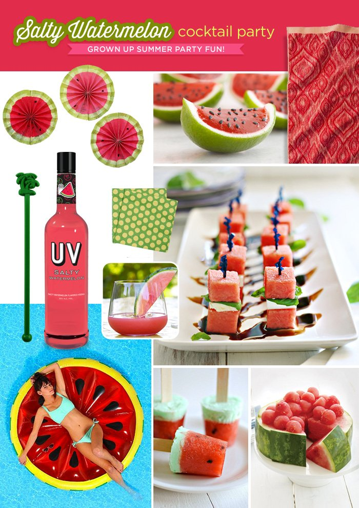 Watermelon Cocktail Party Ideas