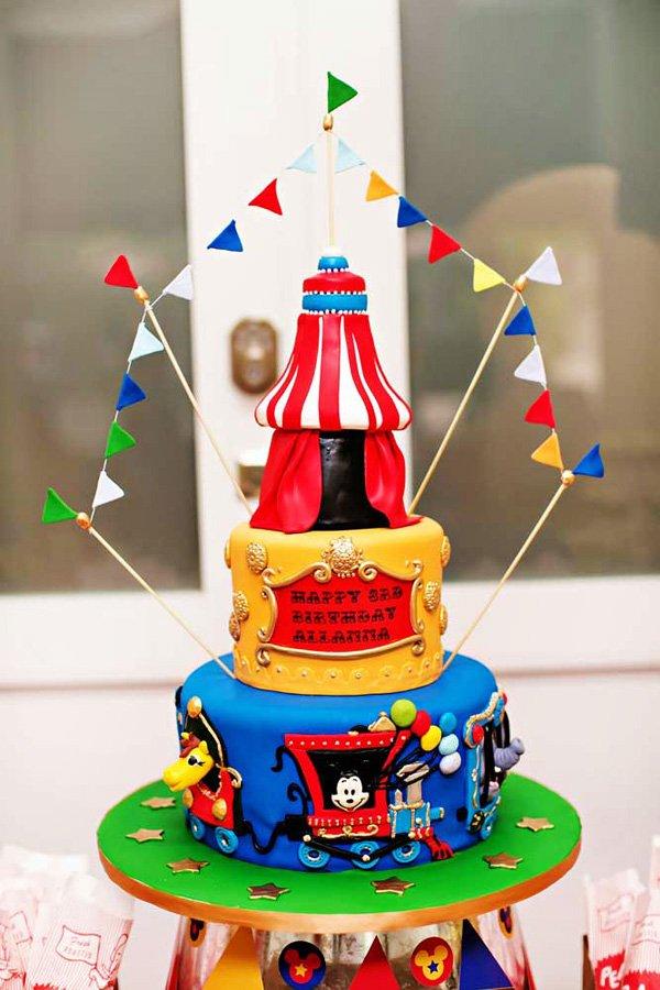 mickey carnival cake