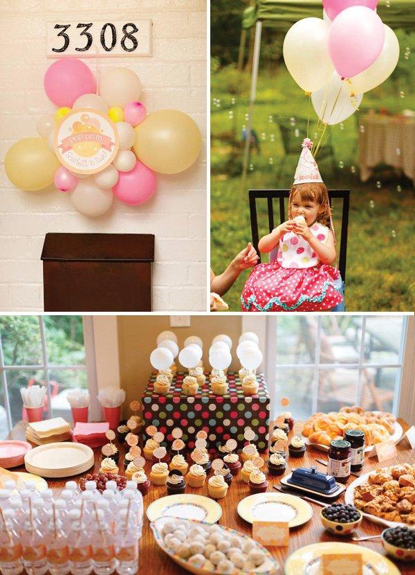 joyful brunch bubbles birthday party