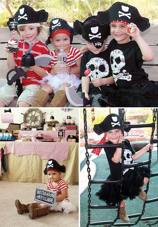 pirate birthday party kids costumes and activites