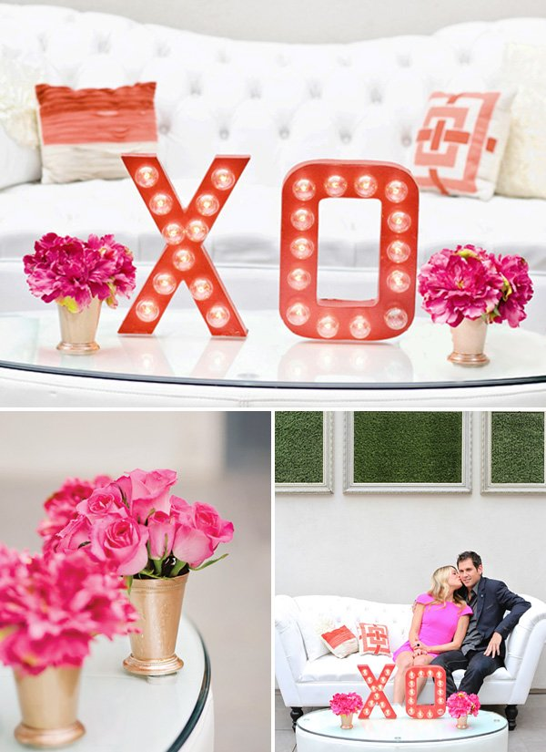 valentines day DIY XO marquee sign