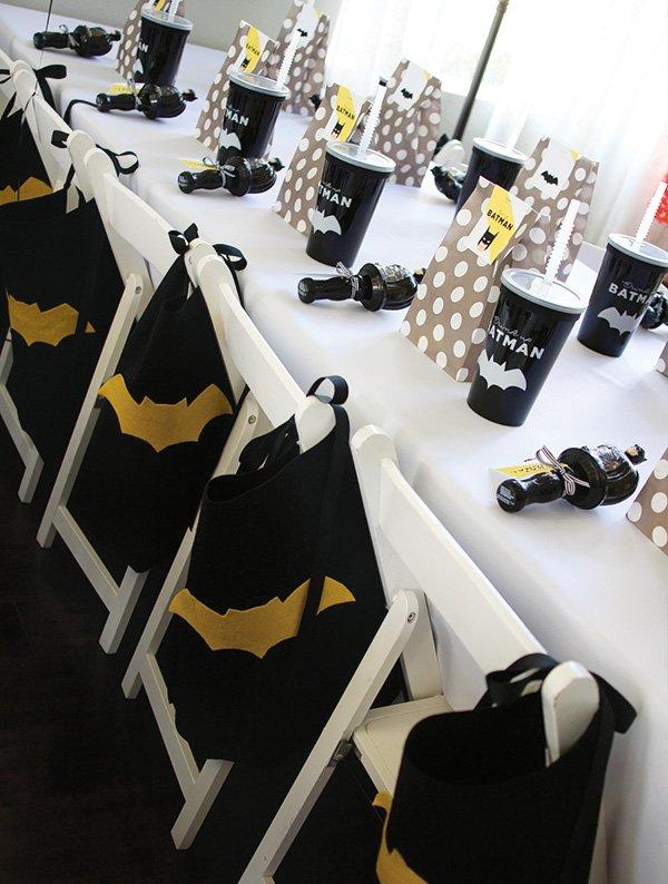 batman tablescape ideas for kids