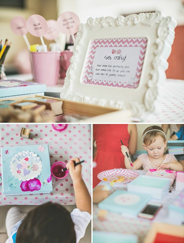 birthday party crafting and painting