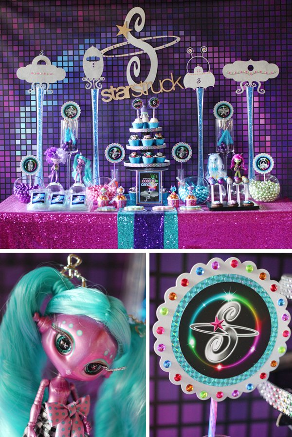 girly-space-candy-table