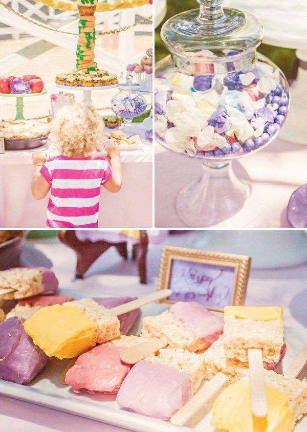 purple princess desserts