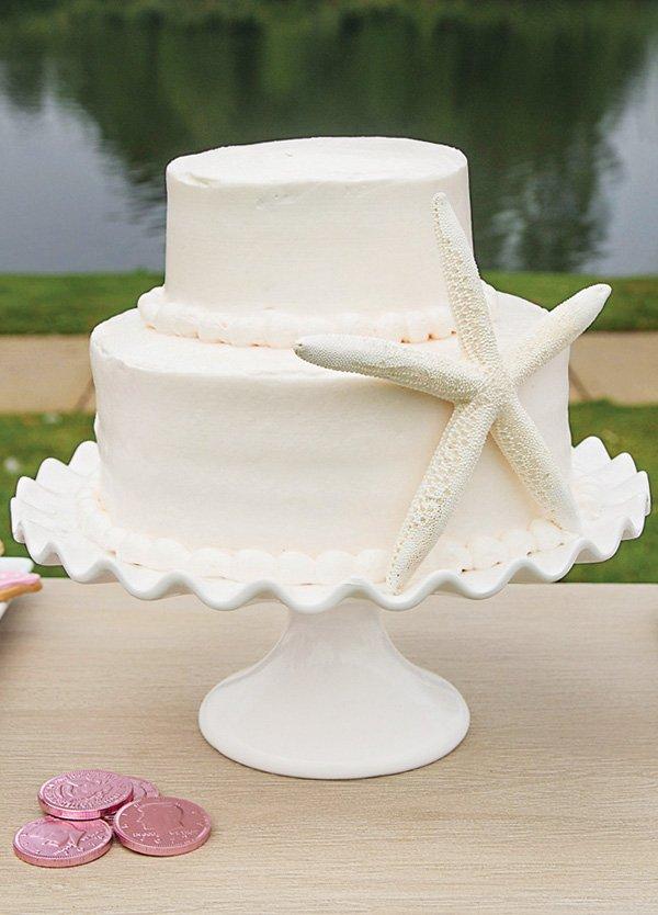 white starfish cake