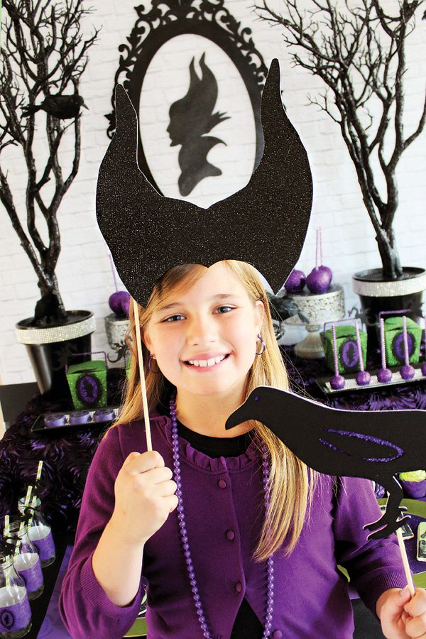 maleficent photo booth props