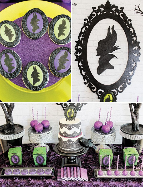 maleficent silhouette party decor