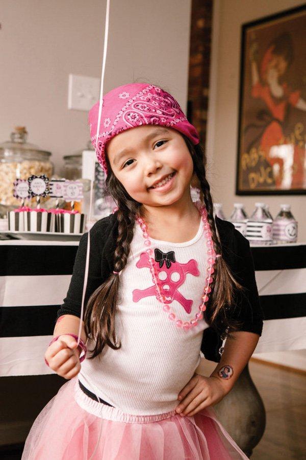 pink girly pirate kid's costume