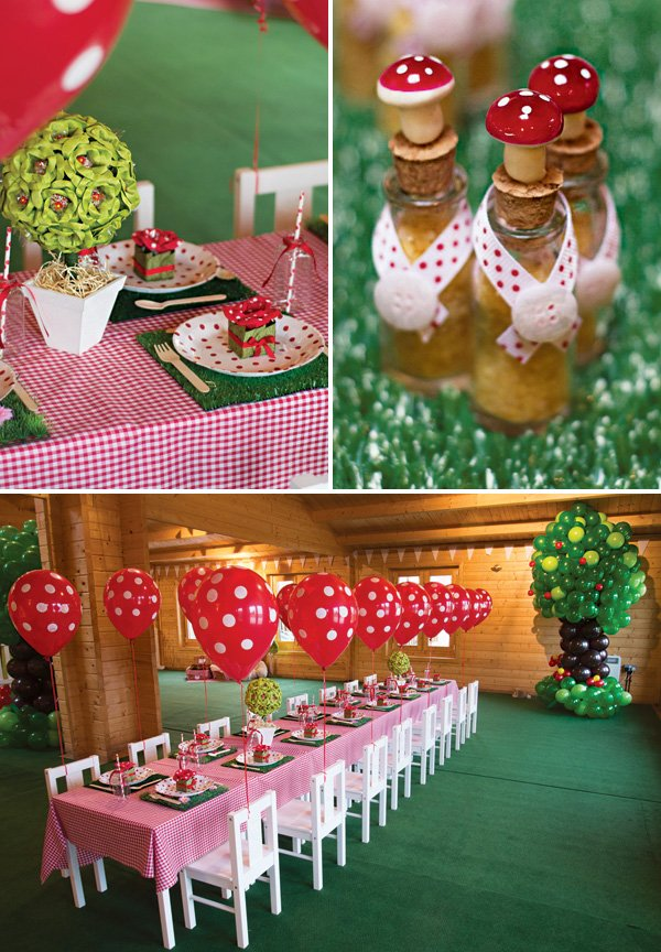picnic birthday party tablescape