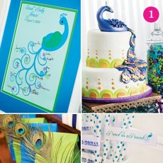 peacock baby shower