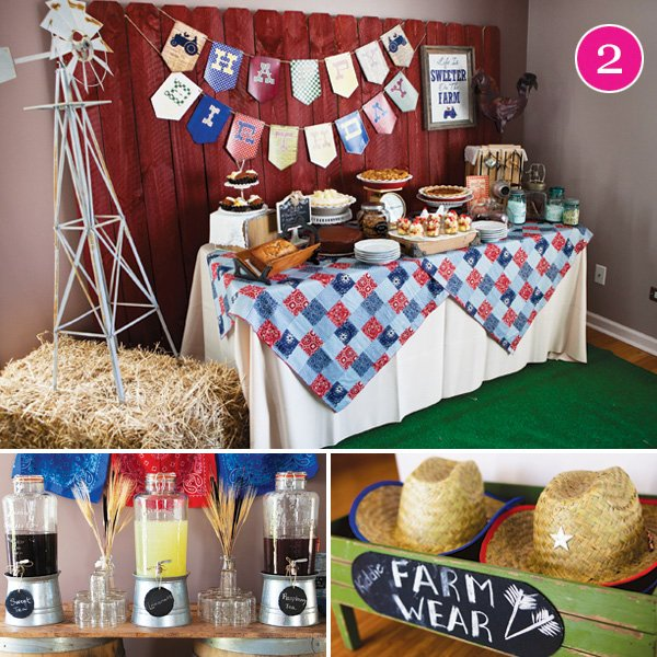 vintage barnyard bash birthday party