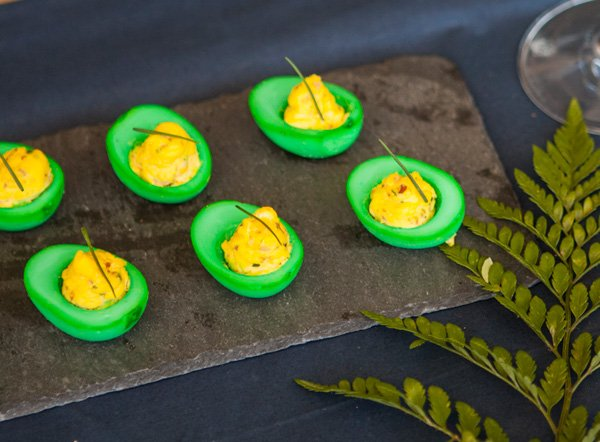 Green Eggs and Ham Appetizer